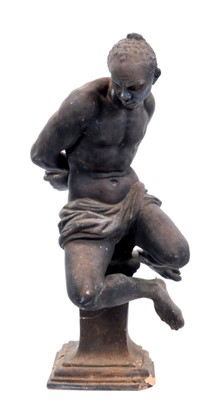 Lot 61 - After Pietro Tacca 'Bound slave' terracotta figure, probably late 19th / early 20th century