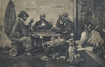 Lot 74 - American early 20th print - card game - titled 'Skinning the Lamb'