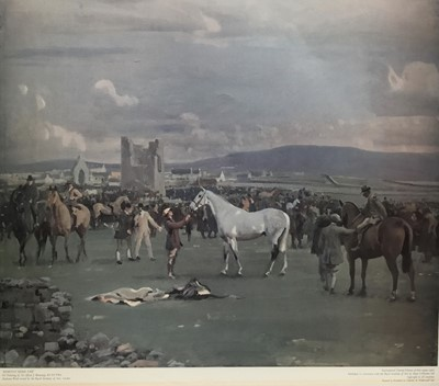 Lot 70 - Alfred Munnings, posthumous print, published by The Royal Academy of Arts, 1973 - Kilkenny Horse Fair