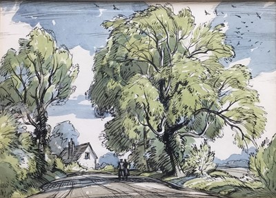 Lot 69 - Albert Ribbans (1903-1966) two watercolours - original cover designs for The East Anglian Magazine