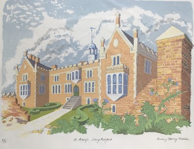 Lot 180 - Penny Berry Paterson (1941-2021) colour print, St Mary's, Long Melford, signed and numbered 5/11 33 x 44cm