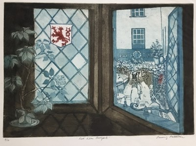 Lot 182 - Penny Berry Paterson (1941-2021) etching and aquatint, Red Lion Prospect,, signed and numbered 4/10, 25 x 35cm