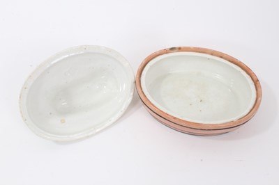 Lot 35 - Victorian Staffordshire butter dish and cover