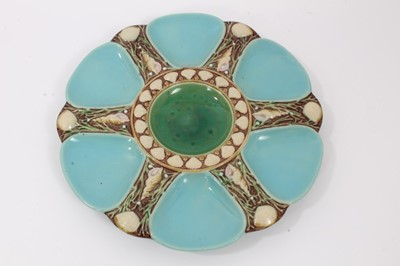 Lot 39 - Victorian Minton Majolica oyster plate