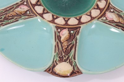 Lot 37 - Victorian Minton Majolica oyster plate