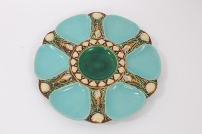 Lot 38 - Victorian Minton Majolica oyster plate