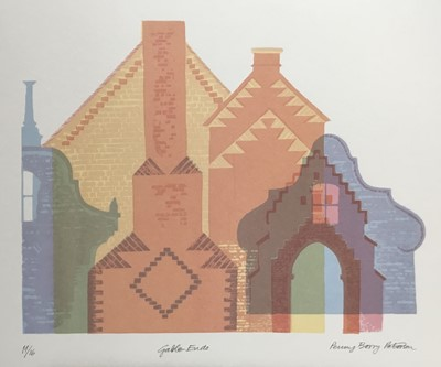 Lot 189 - Penny Berry Paterson (1941-2021) colour print, Gable Ends, signed and numbered 11/16, image 29 x 37cm