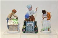 Lot 1057 - Three Royal Doulton figure - Thank You HN2732,...