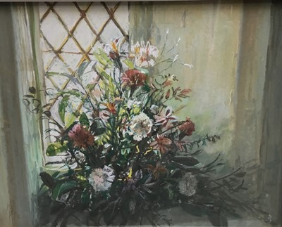 Lot 22 - Margaret Glass pastel, summer flowers