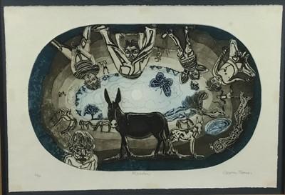 Lot 16 - Glyn Thomas (b. 1946) etching - 'Meadow'