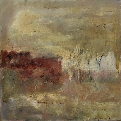 Lot 51 - English School (second-half 20th century), oil on canvas, abstract, 36cm square, framed