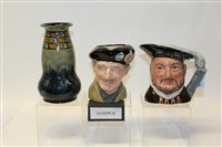 Lot 1059 - Four Royal Doulton character jugs - Henry VIII...
