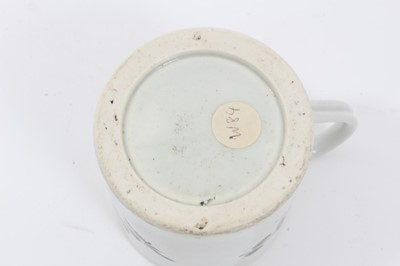 Lot 79 - Worcester small mug or coffee can, circa 1770, polychrome painted with floral sprays, 6.5cm high