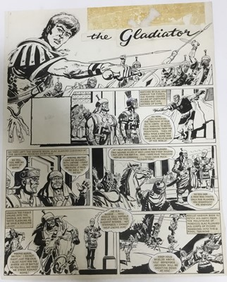 Lot 5 - Comic Book interest: Two original pen and ink illustrations