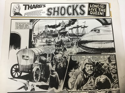 Lot 6 - Comic Book Interest: series of 6 pages of original illustrations to 2000AD