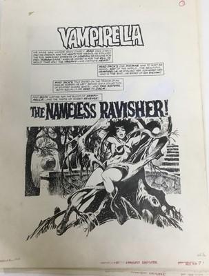 Lot 7 - Comic Book interest: Attributed to Jews Ortiz (1932-2013) series of twelve original illustrations for Vampirellla