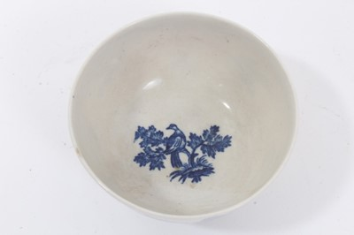 Lot 90 - Worcester tea bowl and saucer, circa 1775, printed with the Birds in Branches pattern, the saucer measuring 13cm diameter  Provenance: Williams-Wood Collection