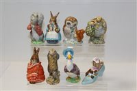 Lot 1068 - Eight Beswick Beatrix Potter figures - Sir...
