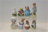 Lot 1069 - Eight Beswick Beatrix Potter figures - Miss...