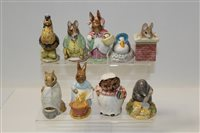 Lot 1070 - Nine Beswick Beatrix Potter figures - Tom...