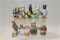 Lot 1071 - Nine Beswick Beatrix Potter figures - Mr...