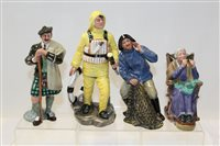 Lot 1073 - Four Royal Doulton figures - The Lifeboat Man...