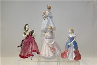 Lot 1075 - Three Royal Worcester limited edition figures -...