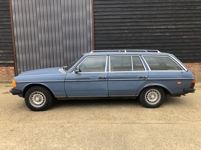 Lot 14 - 1983 Mercedes - Benz W123 / S123 300TD Estate, Automatic, Reg. No. KYC 878Y, finished in blue with tan MB - Tex Vinyl Interior, 367,847 miles, MOT until 25th October 2021, supplied with key and V5,...