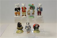 Lot 1076 - Four Beswick Rupert and His Friends figures -...