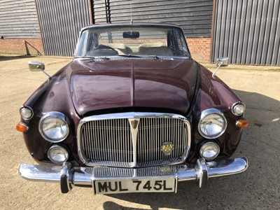 Lot 8 - 1973 Rover P5B Coupe, Automatic, Reg. No. MUL 745L, finished in Bordeaux Red with Buckskin interior, Tax and MOT exempt, purchased by the late owner from Mann Egerton in Colchester in February 1976...