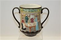 Lot 1077 - Royal Doulton loving cup - Pottery In The Past...
