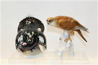 Lot 1081 - Two German porcelain models - Golden Eagle and...