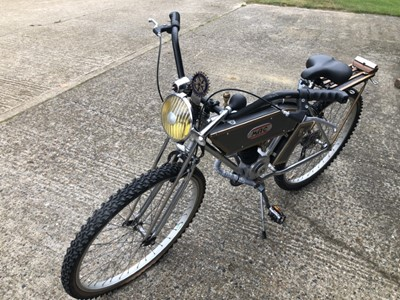 Lot 16 - Unusual 'Steam Punk' Bicycle, a one off creation, with lever action gear change, lovingly built by the current owners late husband.