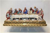 Lot 1085 - Impressive Capodimonte porcelain figure group -...
