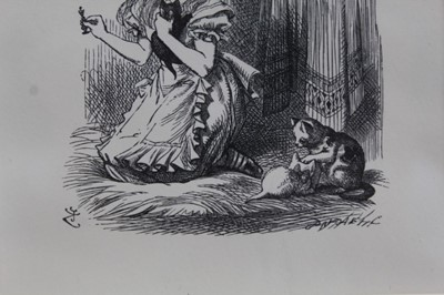 Lot 1712 - Sir John Tenniel (1820 - 1914), pair of limited edition wood engravings - Alice's Adventures in Wonderland and Through the Looking-Glass, 214/250, 14.5cm x 11.5cm and 10.5cm x 10cm, in glazed frame...
