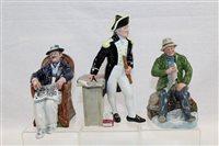 Lot 1092 - Three Royal Doulton figures - The Captain...