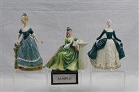 Lot 1094 - Six Royal Doulton figures - Secret Thoughts...