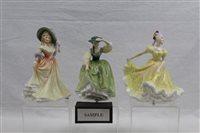 Lot 1095 - Six Royal Doulton figures - Ninette HN2379,...